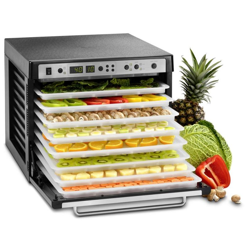 Sedona Combo Rawfood Dehydrator Dual Fan 9 Stainless Steel Trays Food Dehydrator Sedona