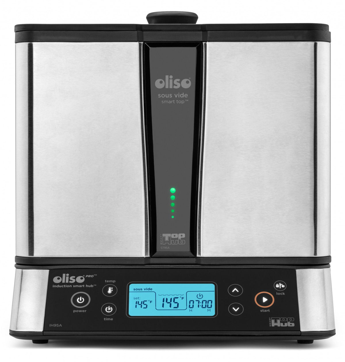 Oliso Sous Vide Smart Hub Induction Cooker with Bonus PolyScience Smoking Gun Sous Vide Machine Oliso Front on View