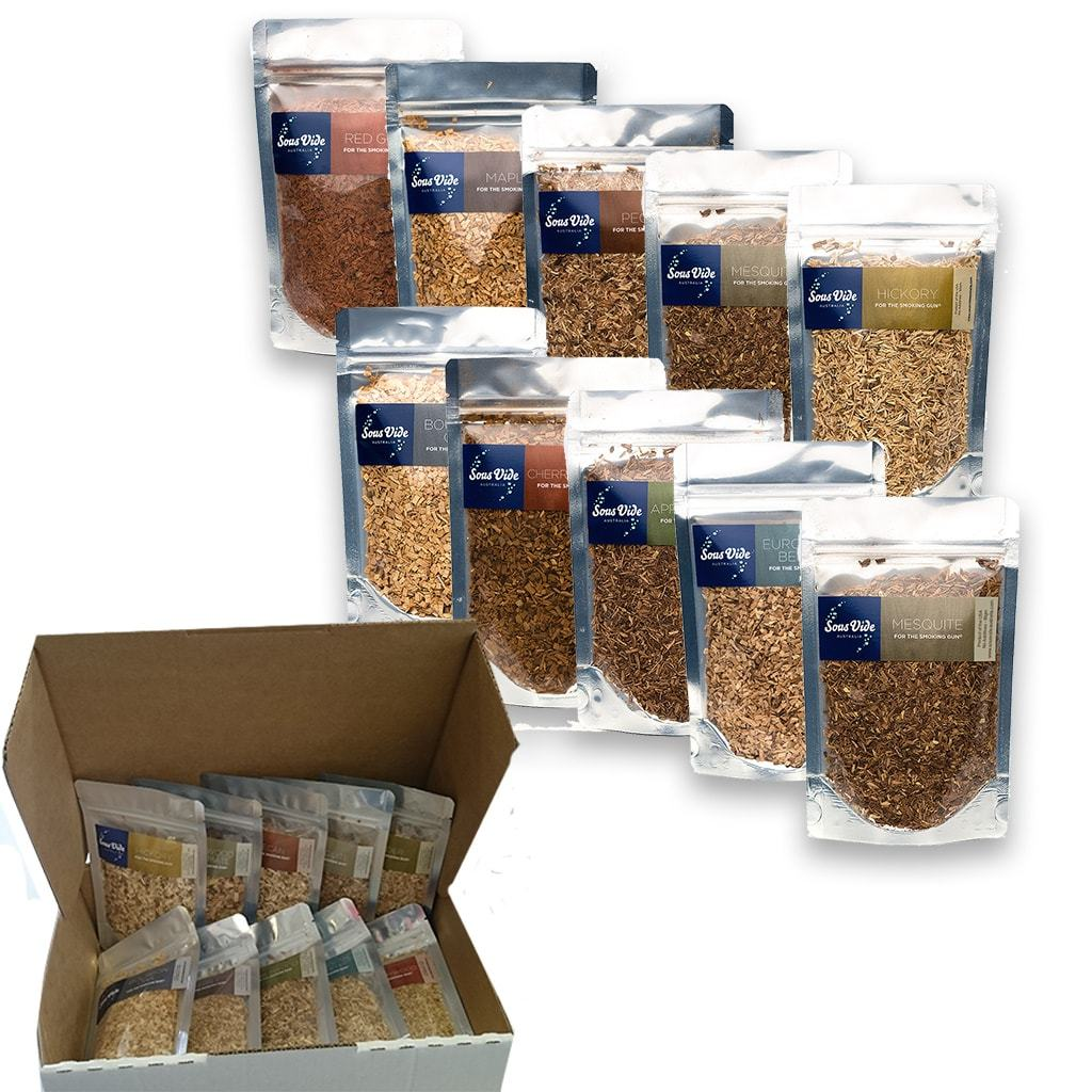 Wood Chips 50gram Pouches (10 Pack Mixed) Woodchips PolyScience