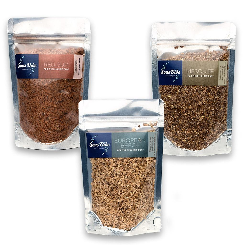 Wood Chips 50gram Pouches (3 Pack Mixed) Woodchips PolyScience