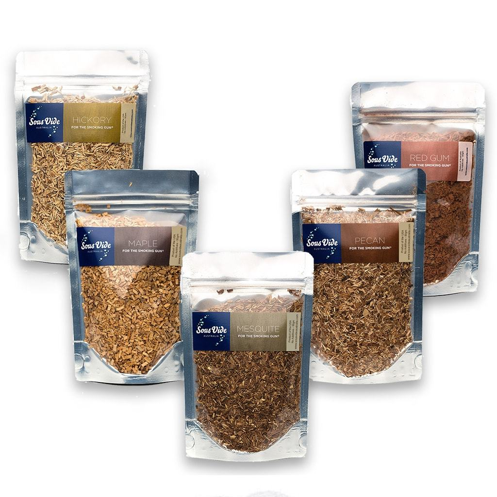 Wood Chips 50gram Pouches (5 Pack Mixed) Woodchips PolyScience