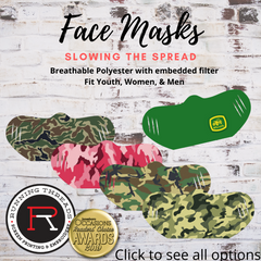 Camouflage and farm face mask, outdoor