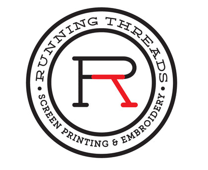 Running Threads Screen Printing and Embroidery custom apparel and more for business, events, organizations, etc.  Ready to have an online fundraiser with custom apparel? We can help!