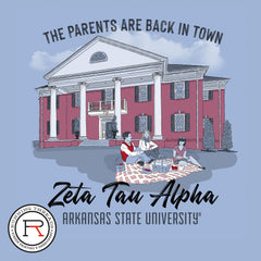 Parent's Weekend Zeta Tau Alpha Running Threads Screen Printing and Embroidery