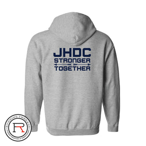 Jonesboro Human Development Center Stronger Together Full Zip jacket Running Threads Screen Printing and Embroidery
