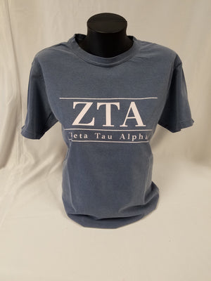 Zeta Tau Alpha T-Shirt - CLEARANCE - FINAL SALE - Running Threads Screen Printing and Embroidery