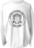 Alpha Gamma Delta Crest Corded Sweatshirt Running Threads Screen Printing and Embroidery