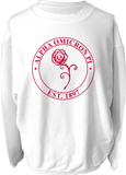 Alpha Omicron Pi Crest Corded Sweatshirt Running Threads Screen Printing and Embroidery