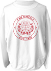 Chi Omega Crest Corded Sweatshirt Running Threads Screen Printing and Embroidery