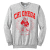 Chi Omega Owl Sweatshirt - Running Threads Screen Printing and Embroidery