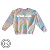 Greek Tie Dye Cord Sweatshirt