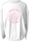 Delta Zeta Crest Corded Sweatshirt Running Threads Screen Printing and Embroidery