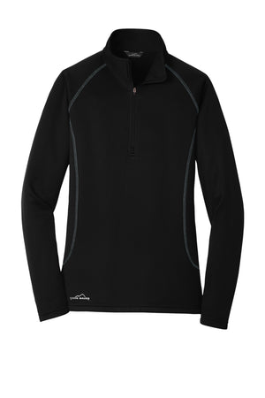 Arisa Health Eddie Bauer Ladies Smooth Fleece Base Layer 1/2-Zip, EB237 - Running Threads Screen Printing and Embroidery