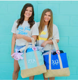 Sorority Tote Bag - with FREE fanny pack - Running Threads Screen Printing and Embroidery