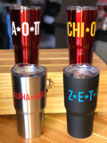 Sorority Tumbler - with FREE Note Pad - Running Threads Screen Printing and Embroidery