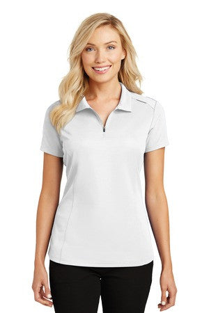 Ladies Pinpoint Mesh Zip Polo - SBMC - Running Threads Screen Printing and Embroidery