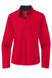 Miracle Kids Port Authority ® Ladies Silk Touch ™ Performance 1/4-Zip - LK584 - Running Threads Screen Printing and Embroidery