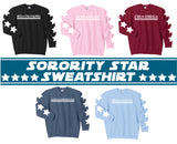Sorority Star Sweatshirt - Running Threads Screen Printing and Embroidery