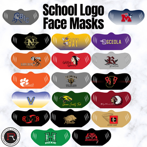 School Logo Face Masks - Running Threads Screen Printing and Embroidery