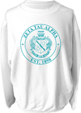 Zeta Tau Alpha Crest Corded Sweatshirt Running Threads Screen Printing and Embroidery