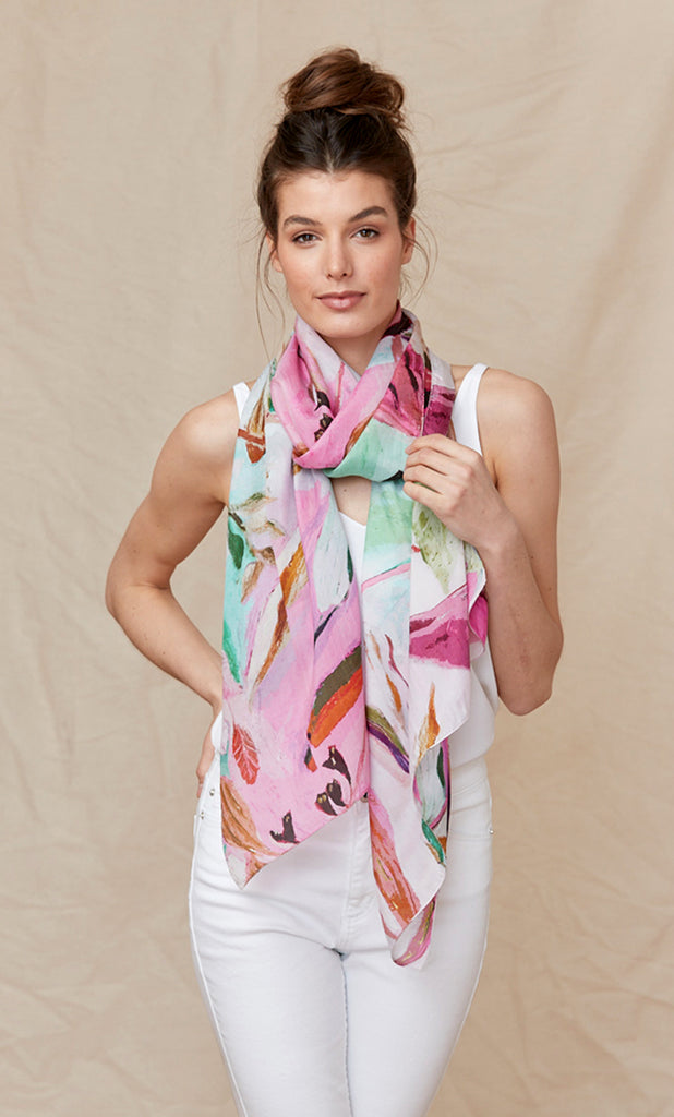 Garden Collage - Silk Scarf