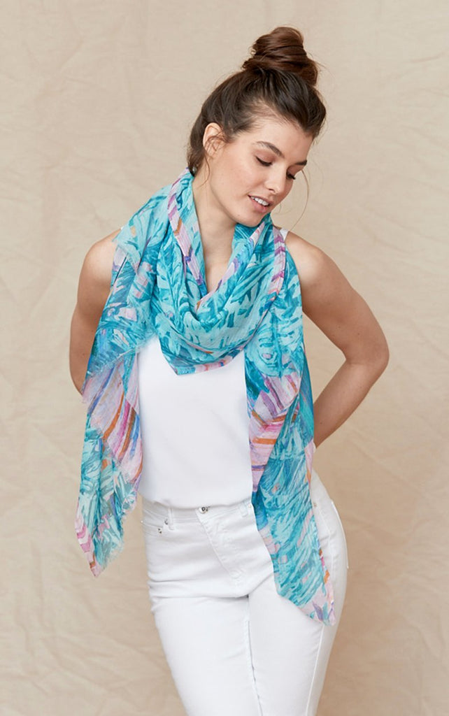 Palm Springs - Silk/Cotton Scarf and Sarong