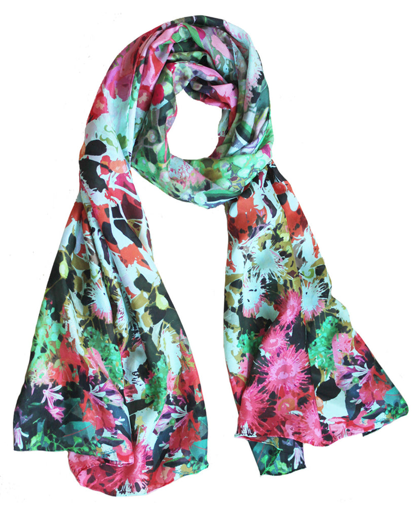 Native Bloom in Pink - Silk Scarf