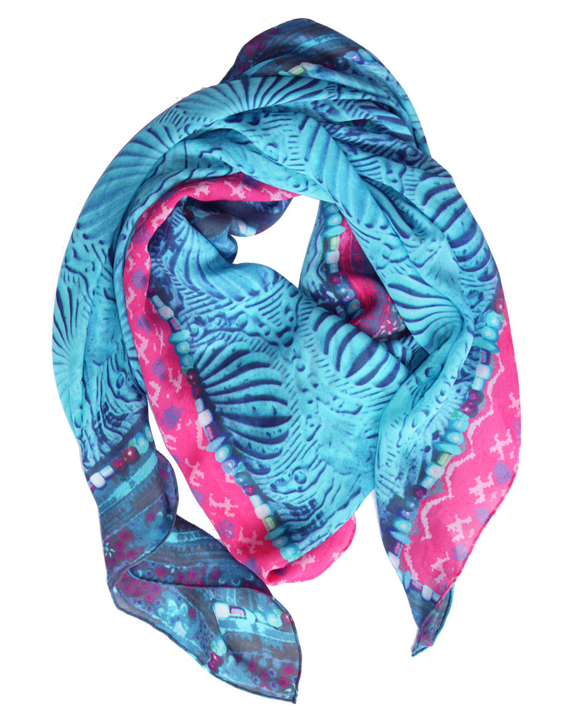 Angel in Blue - Silk Scarf