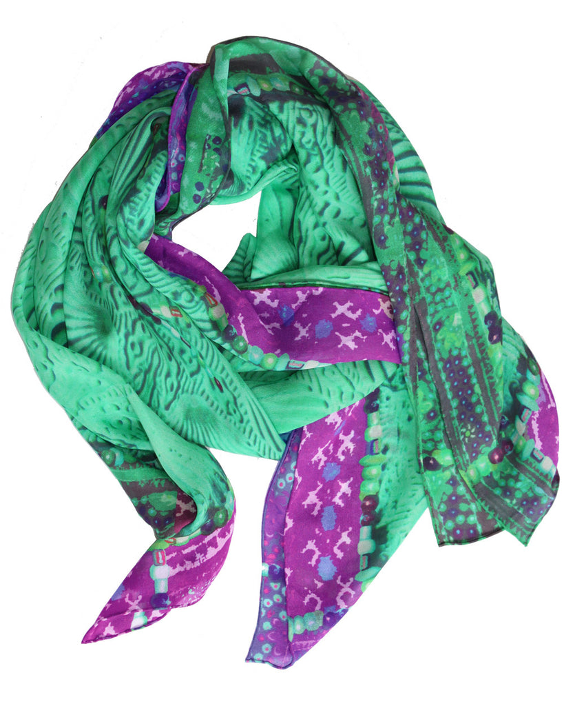 Angel in Green -  Silk Scarf