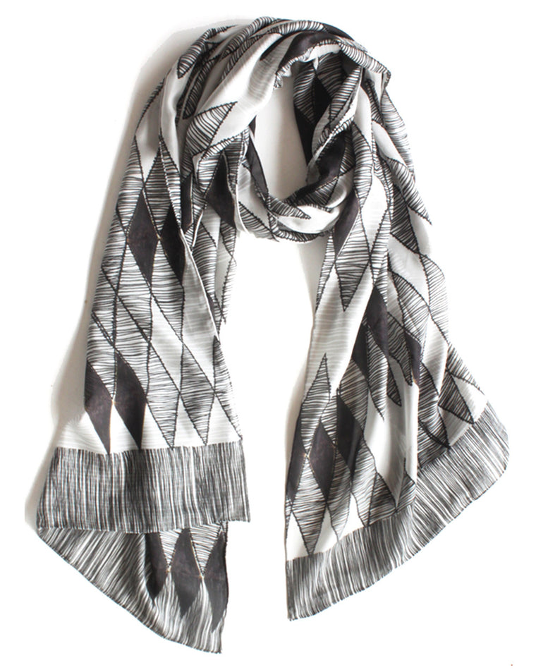 Diamond Life - Silk Scarf