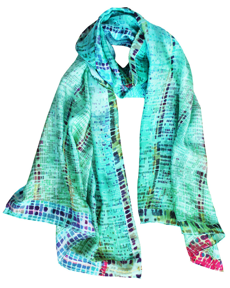 ONE LEFT Drift Green - Silk Scarf