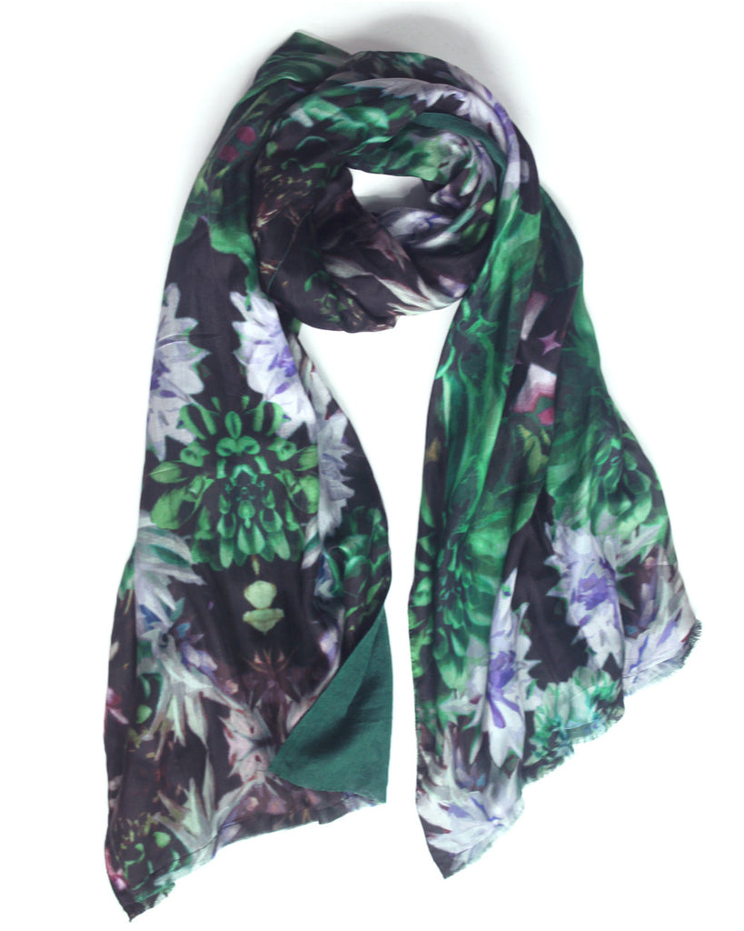 Forest Flower - Silk & Wool Scarf
