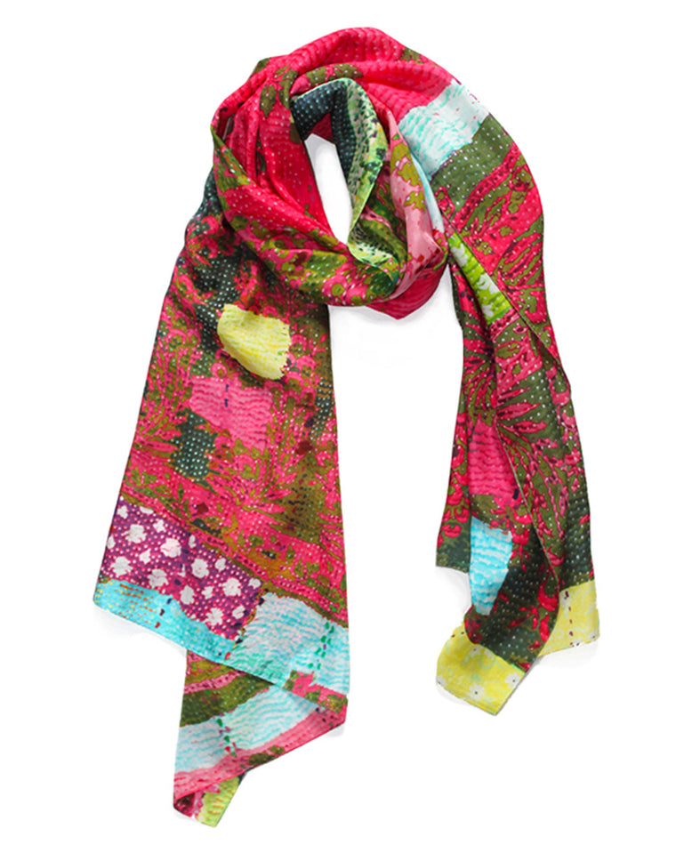 ONE LEFT Selina Pink - Silk Scarf