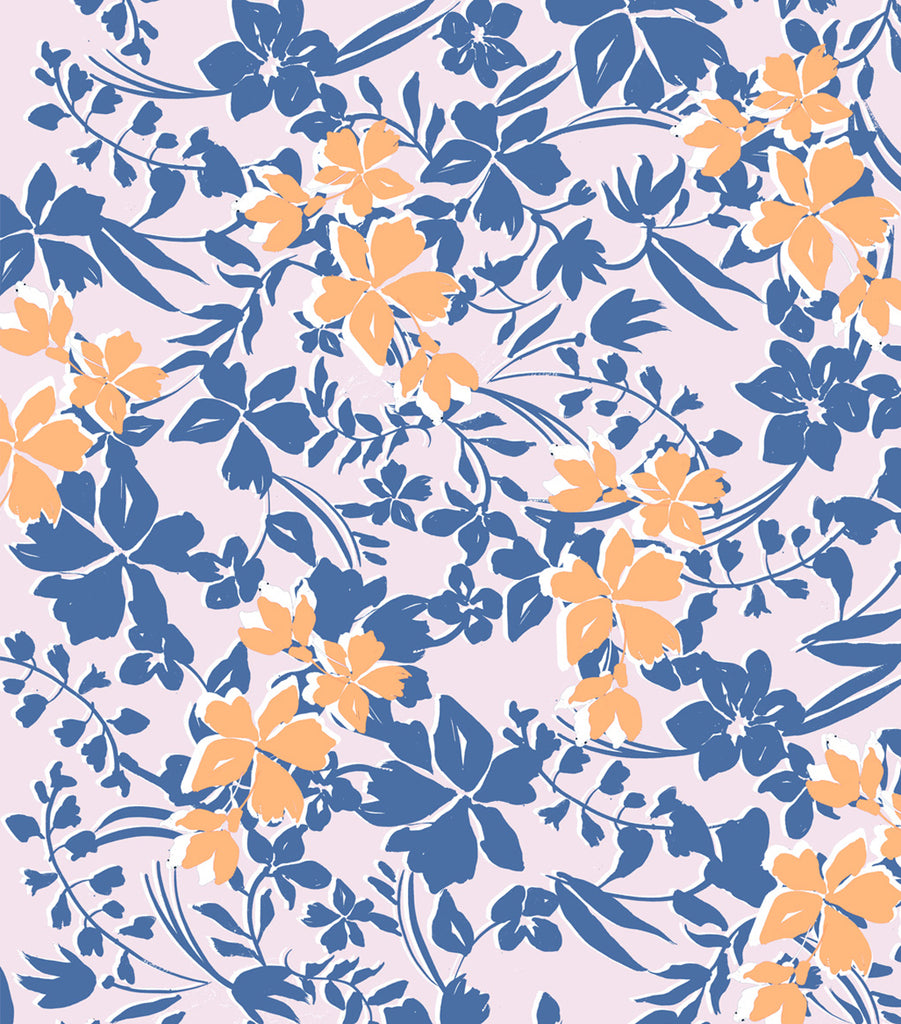 Print design - Floral Silhouete in Pink