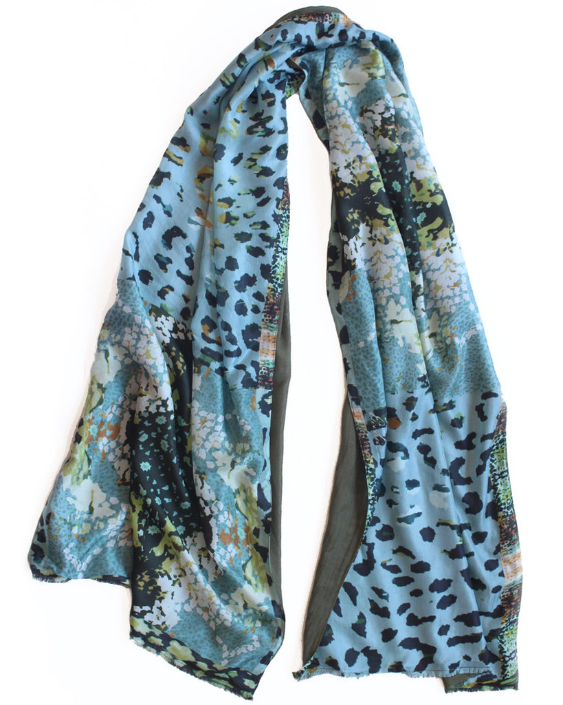 Folk Leopard - Silk with wool backing