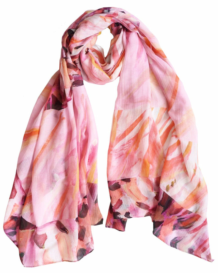 Golden Plains - Silk/Cotton Scarf and Sarong