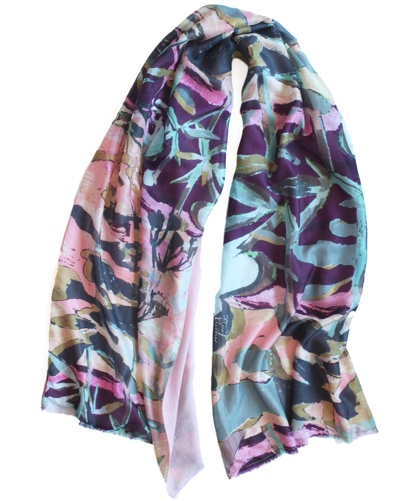 Succi - Silk scarf with wool backing
