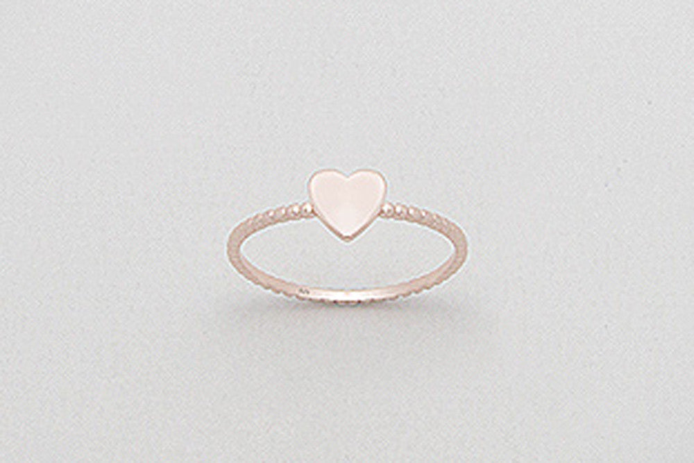 Rose Gold Heart Ring  Rings - TOPAZ AND CO.
