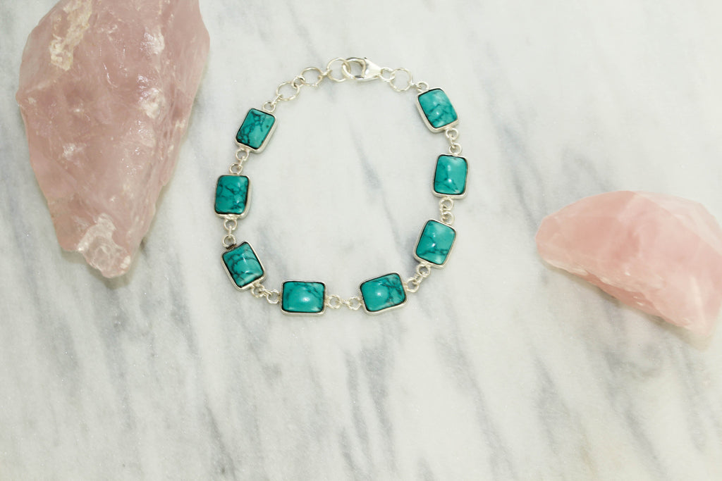 Vivien Turquoise Bracelet  Bracelet - TOPAZ AND CO.