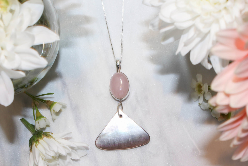 Gemma rose quartz pendant topaz and co gemma mozeypictures Image collections