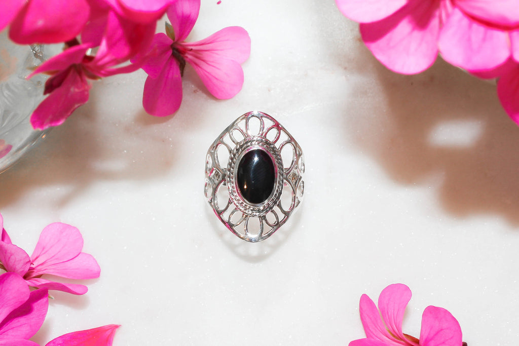 Cassidy Onyx Ring  Rings - TOPAZ AND CO.