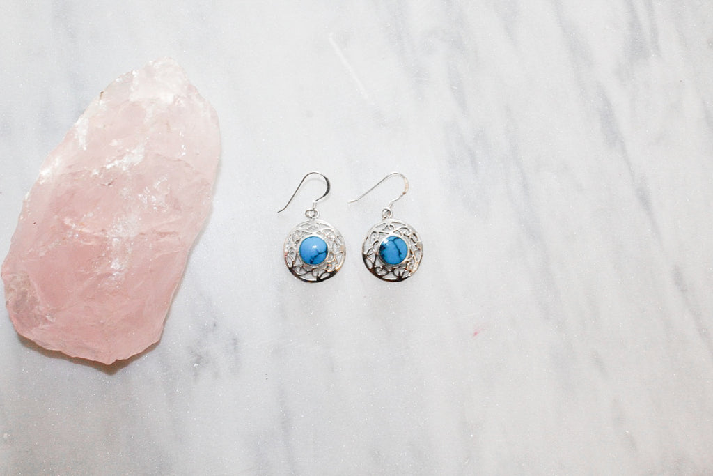Veronica Turquoise Earrings  Earrings - TOPAZ AND CO.