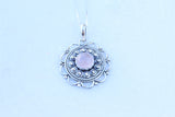 Dahlia Rose Quartz Pendant  Pendants - TOPAZ AND CO.