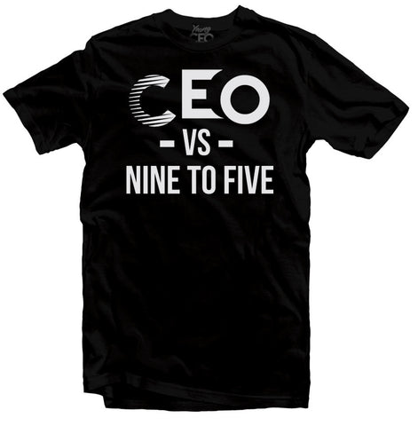 CEO NINE TO FIVE BLACK T-SHIRT
