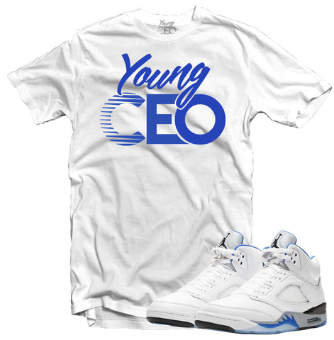 Jordan 5 Stealth 2.0 White Tee-Young CEO