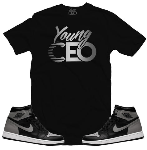 Jordan 1 shadow young ceo black tee-Young Ceo