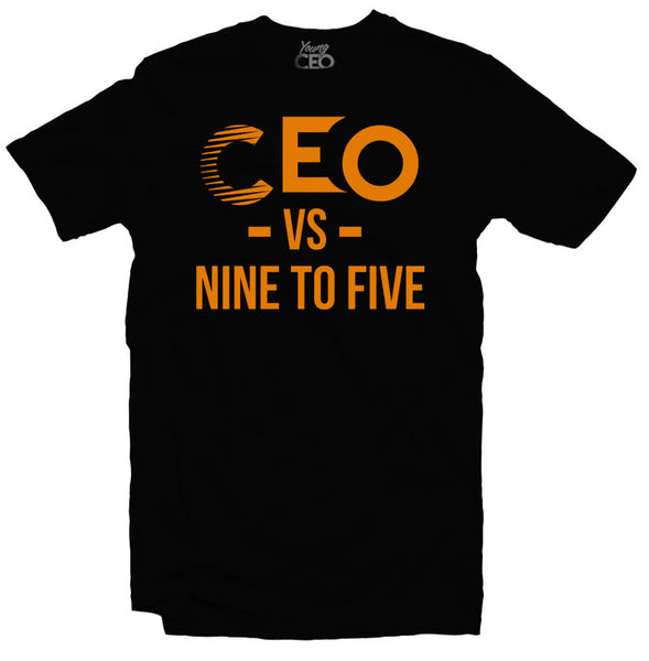 CEO VS NINE TO FIVE Black T-SHIRT