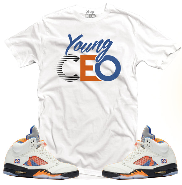 Jordan 5 international Young Ceo white tee-Young Ceo