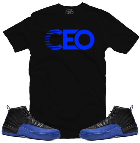 Jordan 12 game royal ceo black tee-Young Ceo