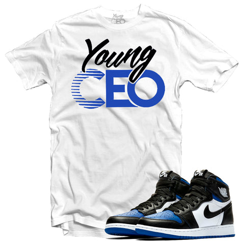 "Jordan 1 Royal ""Young CEO"" White Tee-Young CEO"